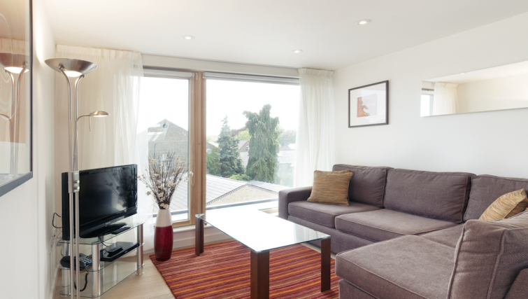Bright living area at Cambridge Place Apartments