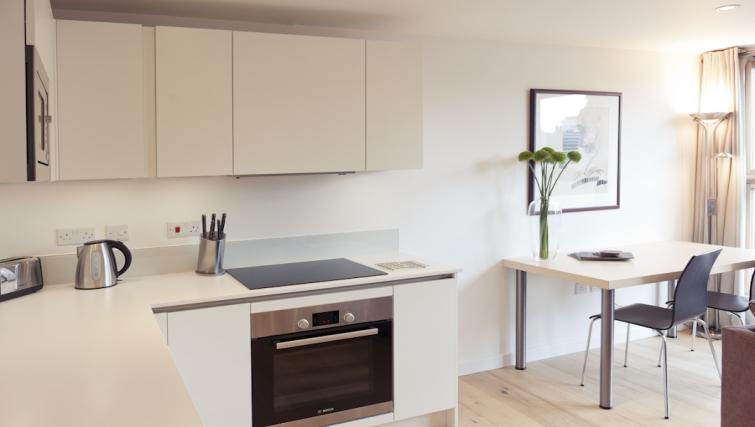 Pristine kitchen at Cambridge Place Apartments