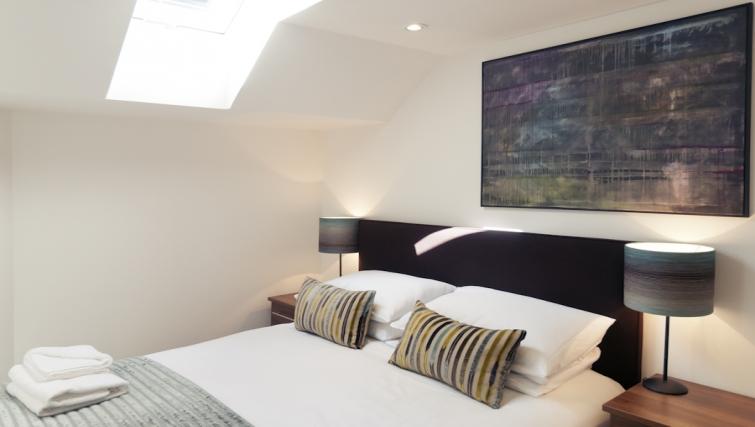 Warm bedroom at Cambridge Place Apartments