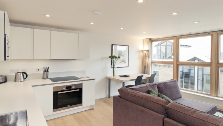 Modern living area at Cambridge Place Apartments