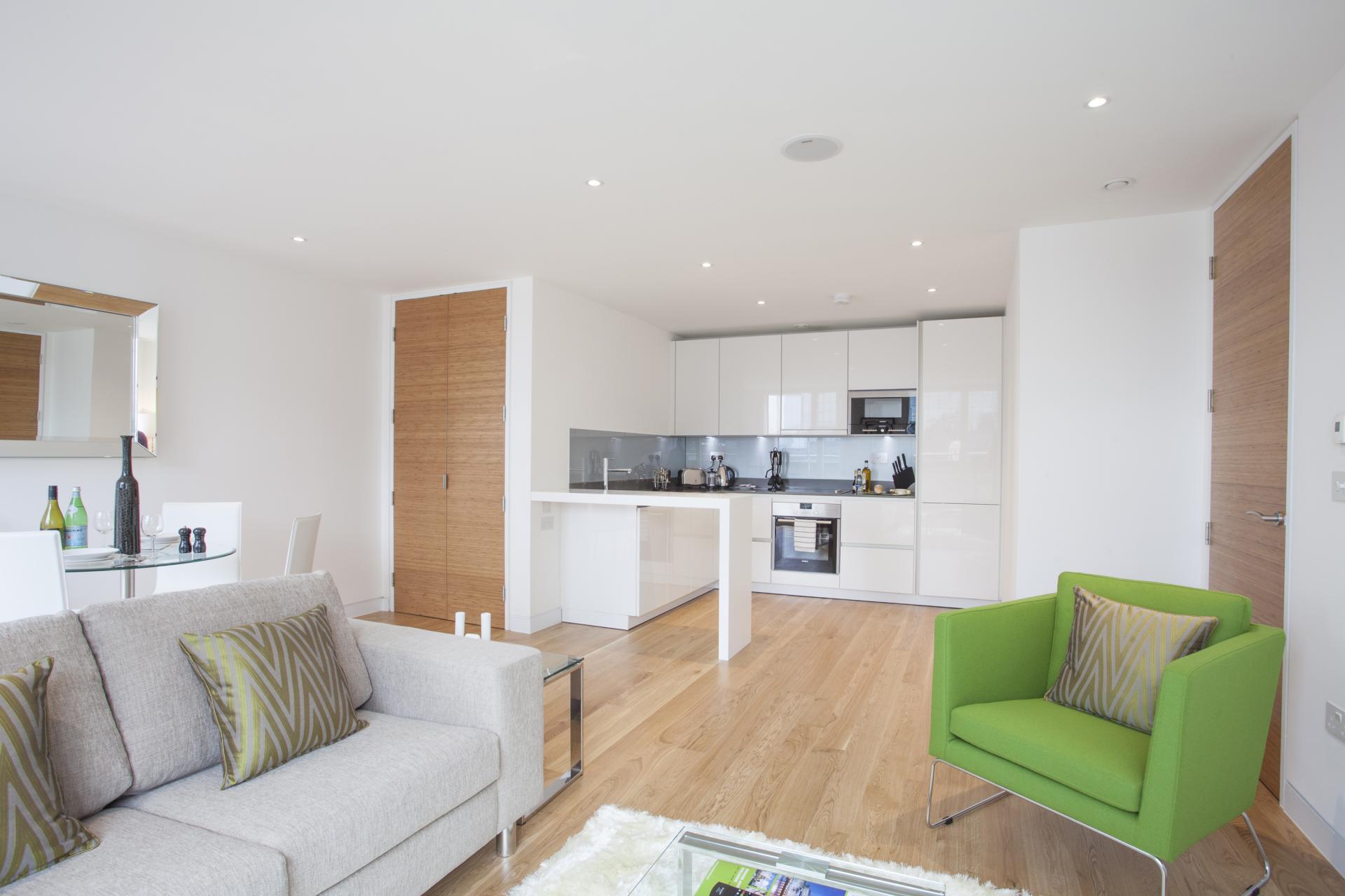 Sofa at London Square Apartments