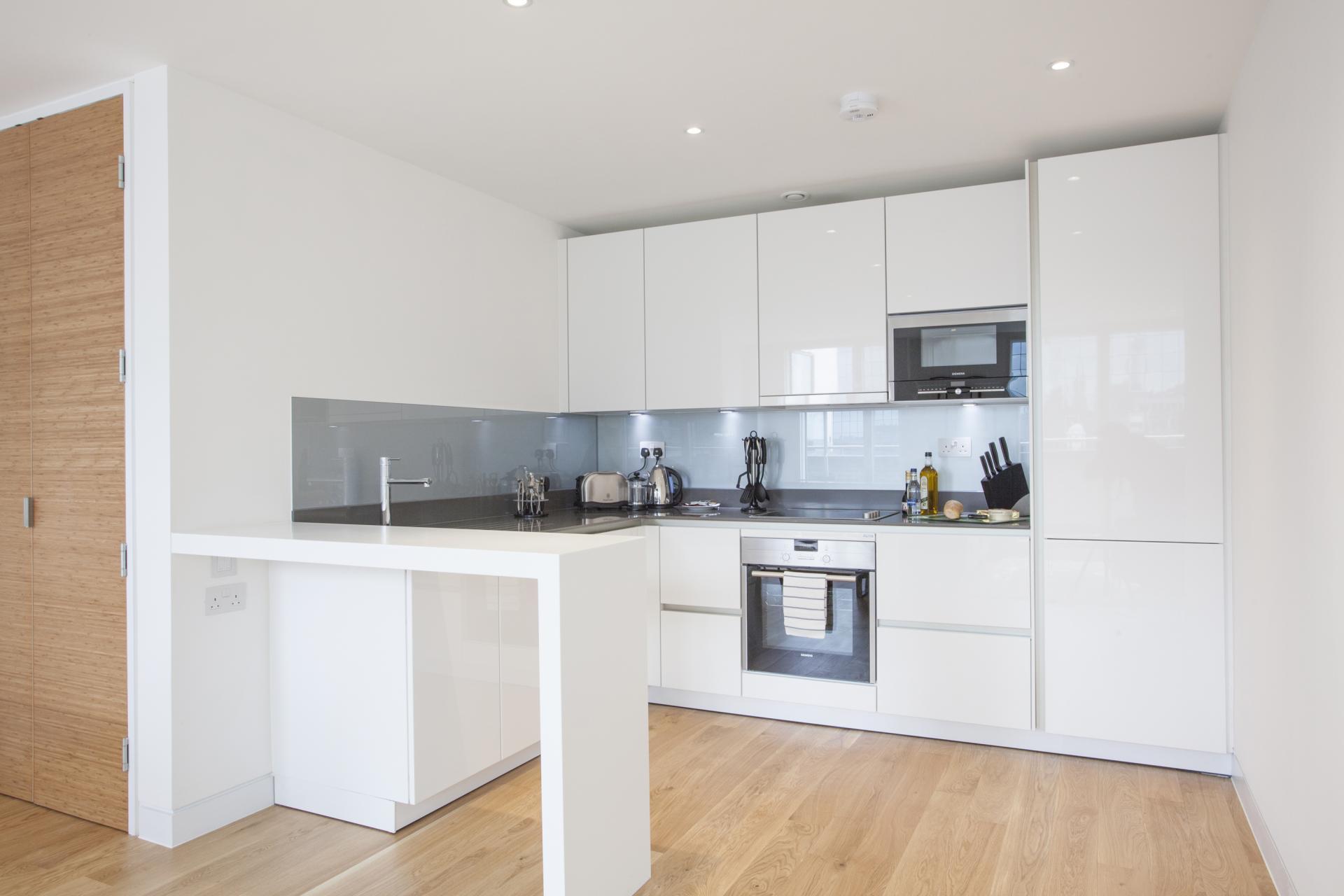 Kitchen at London Square Apartments