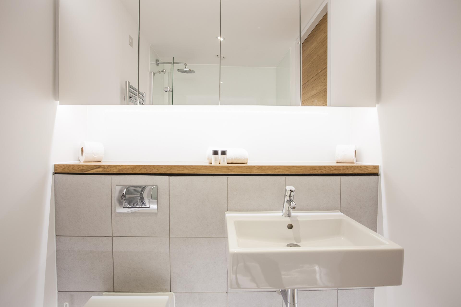 Bathroom at London Square Apartments