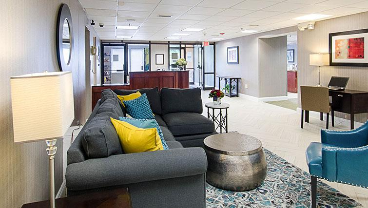 Lobby area at Worcester Apartments