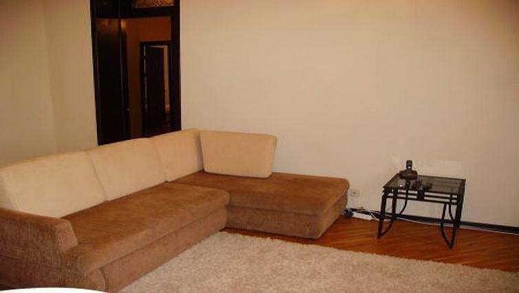 Simplistic living area in Krassnoarmeyskaya Apartment