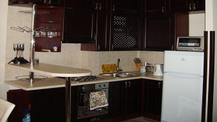 Equipped kitchen in Krassnoarmeyskaya Apartment