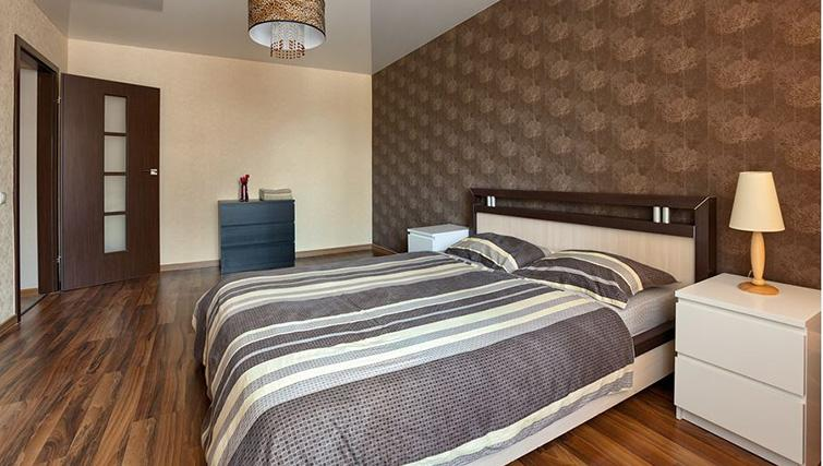 Double bed at Basseyna Street Apartment