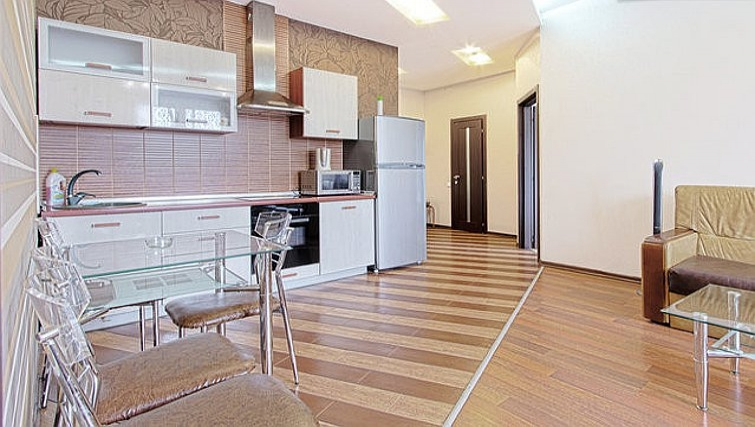 Spacious kitchen in Rustaveli Apartment