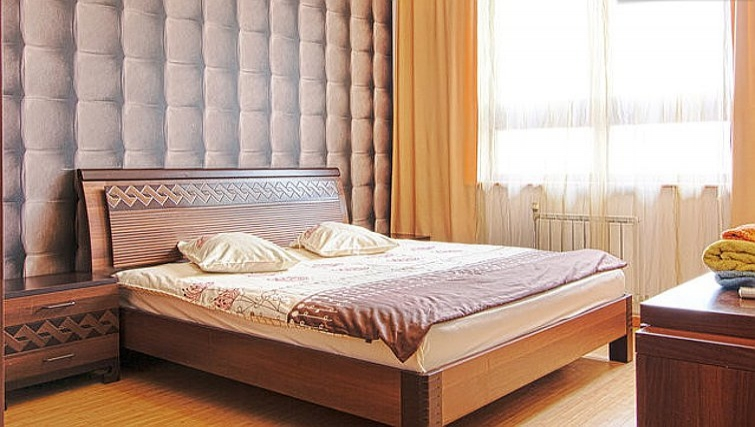 Comfortable bedroom in Rustaveli Apartment