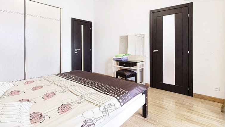 Stylish bedroom in Rustaveli Apartment
