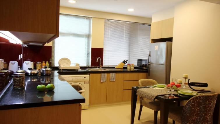 Kitchen area at Somerset Ho Chi Minh Apartments