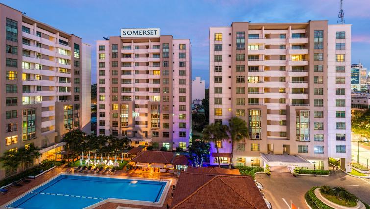 Exterior of Somerset Ho Chi Minh Apartments