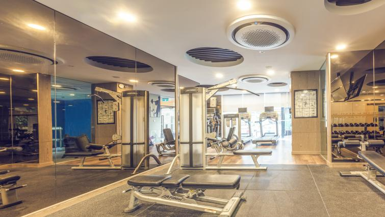 Fitness centre at Somerset Ho Chi Minh Apartments