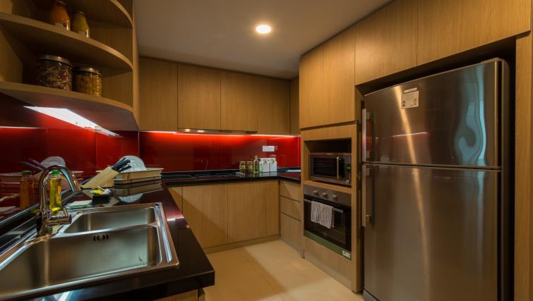 Modern kitchen at Somerset Ho Chi Minh Apartments
