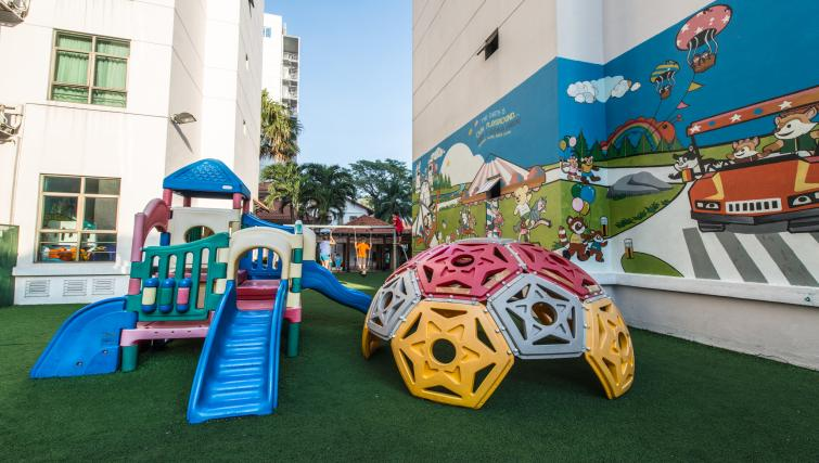 Outdoor play area at Somerset Ho Chi Minh Apartments