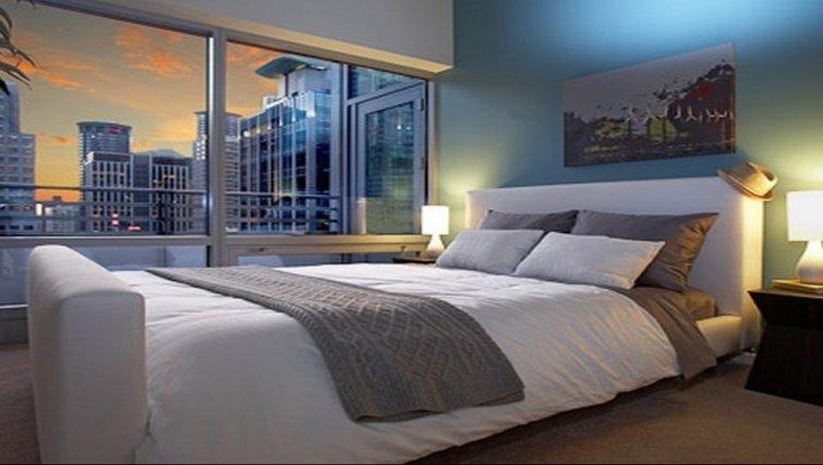 Pristine bedroom in Aspira Apartments