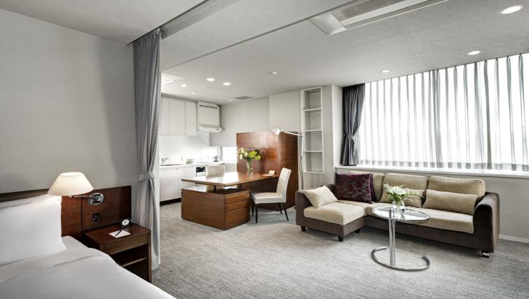 Living area at Somerset Azabu East Apartments