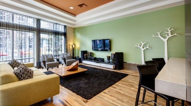 Ideal living area in Taylor 28 Apartments
