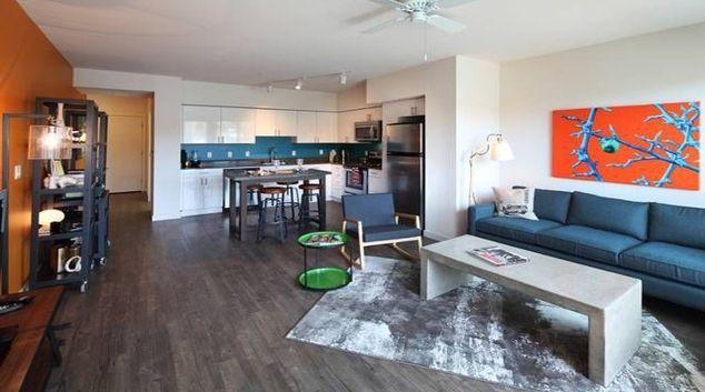 Glamorous living area in AVA Ballard Apartments