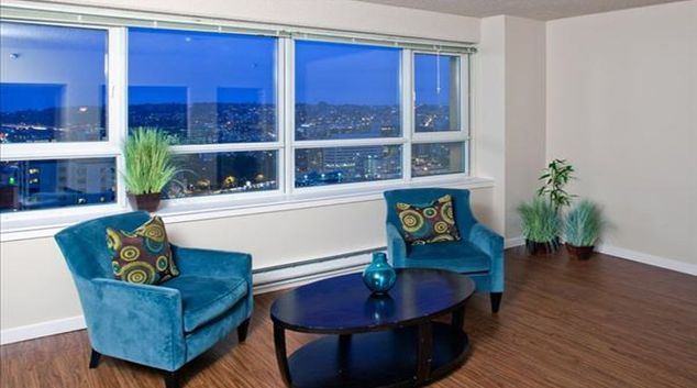 Beautiful living area in Centennial Tower and Court