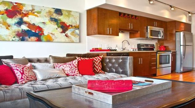 Sophisticated living area in Coppins Well Apartments
