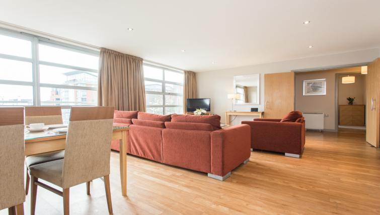 Living area at Premier Suites Nottingham