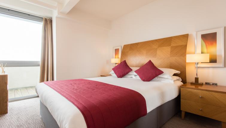 Stylish bedroom in Premier Suites Nottingham
