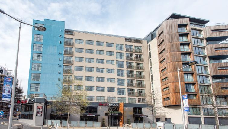 Exterior of Premier Suites Nottingham