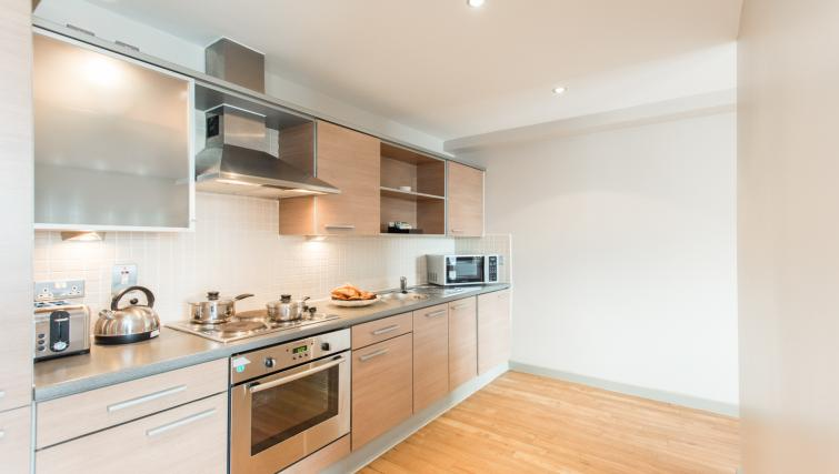 Modern kitchen in Premier Suites Nottingham
