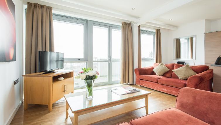 Bright living area in Premier Suites Nottingham