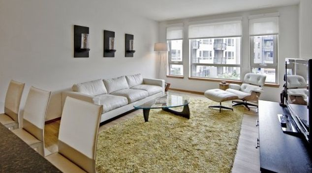Classy living area in 77 Central Apartments