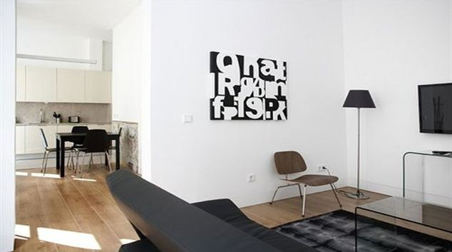 Artistic living area in Baixa de Lisboa Apartments