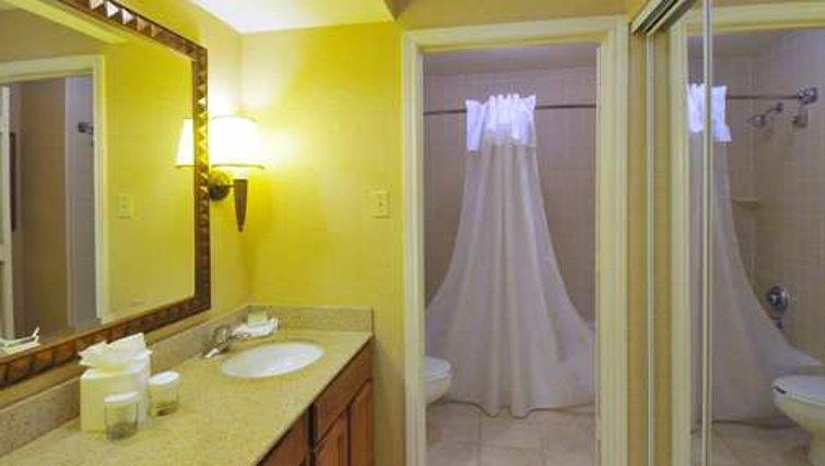 Clean bathroom in Homewood Suites Boulder