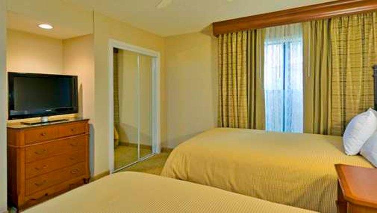 Relaxing bedroom in Homewood Suites Boulder