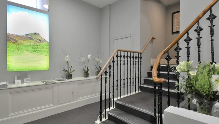 Inviting hallway in St. Andrew Square Apartments