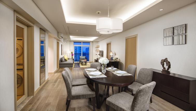 Dining area at Somerset Xu Hui Apartments