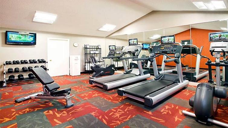 Fully equipped gym in Residence Inn Boulder