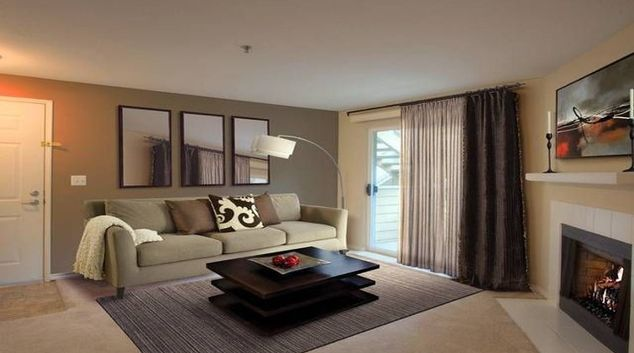 Contemporary living area in Avalon Redmond Place