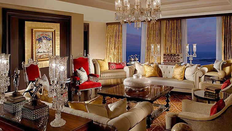 Living room at The Leela Palace Chennai Apartments