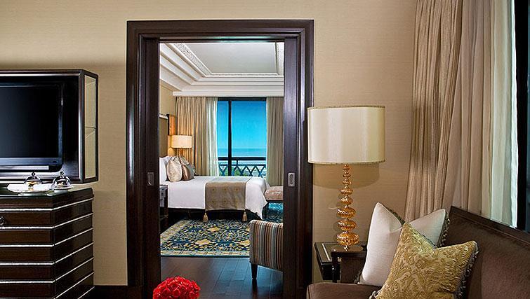 Bright living area at The Leela Palace Chennai Apartments