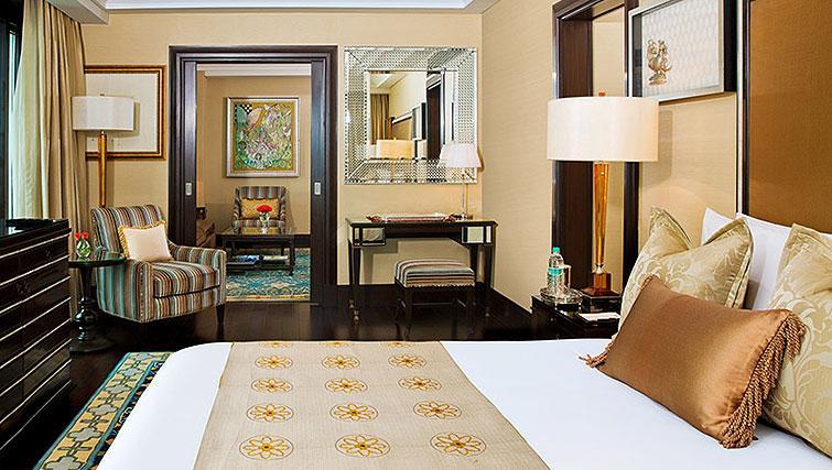 Bedroom at The Leela Palace Chennai Apartments
