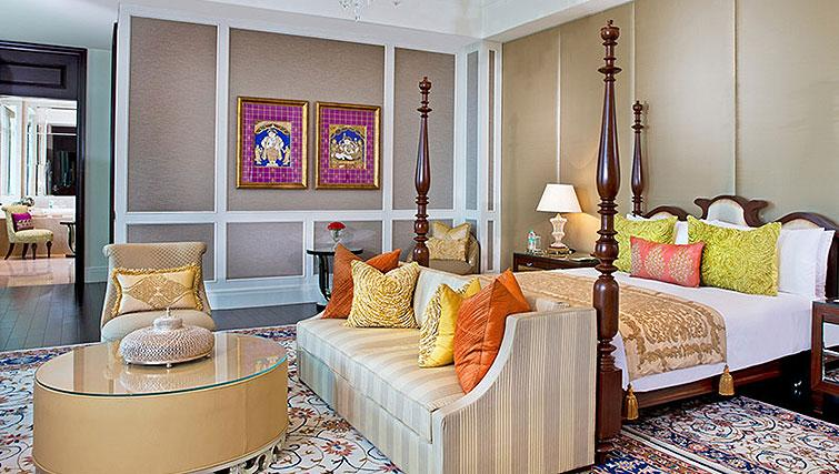Bedroom suite at The Leela Palace Chennai Apartments