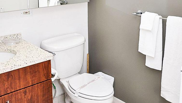 Practical bathroom in 120 West 21st Street Apartments