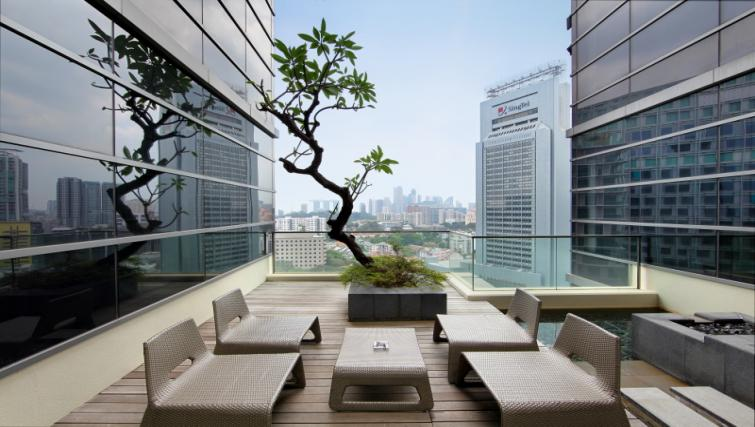 Terrace at Pan Pacific Serviced Suites Orchard, Singapore