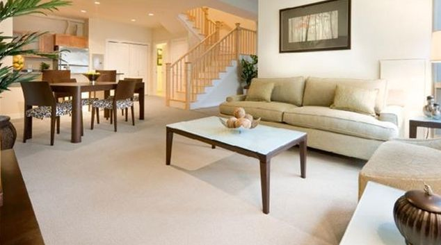 Classy living area in Vesta at West End Apartments