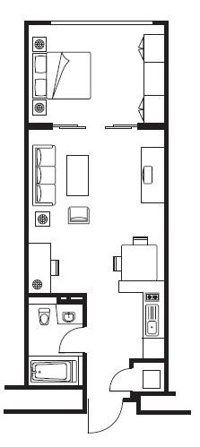 Floor plan 2 at Somerset Palace Apartments