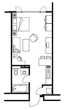 Floor plan 1 at Somerset Palace Apartments