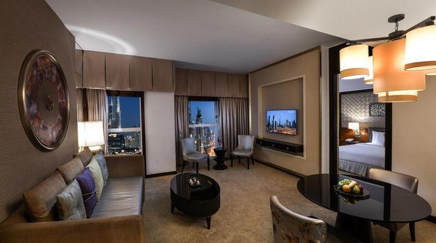 Living area at Dusit Thani Dubai Apartments, Financial District, Dubai