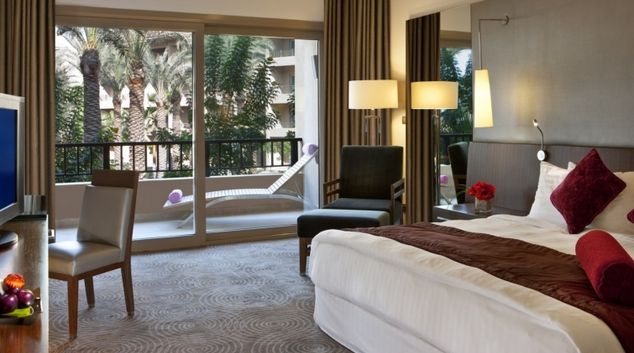 Stunning bedroom at Dusit Thani LakeView Cairo Apartments