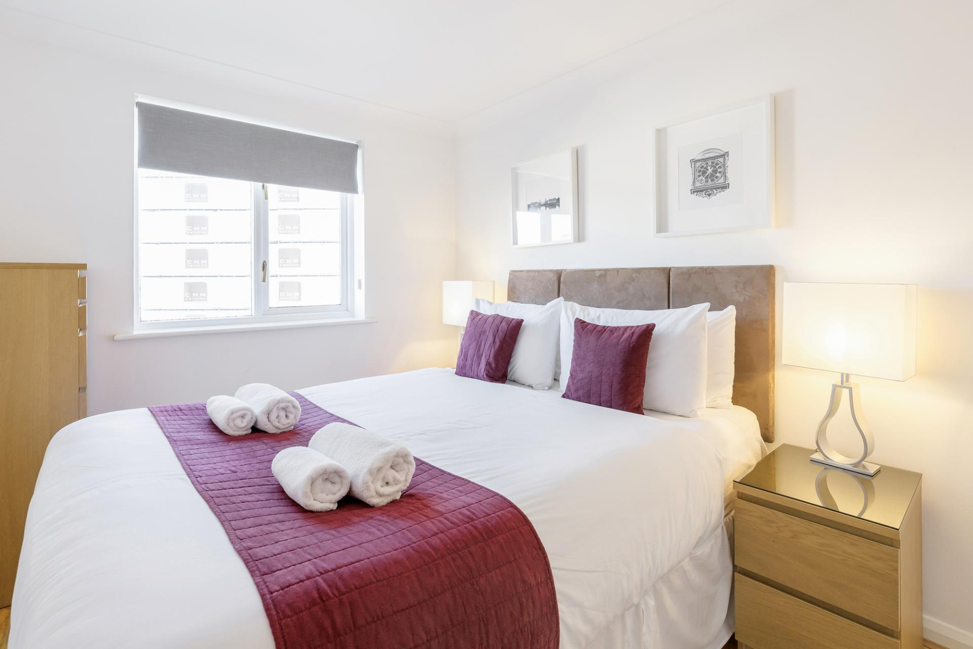 Bedroom at Regents Court, Kingston upon Thames, London